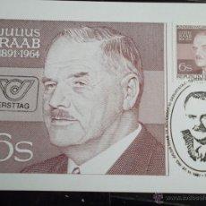 Timbres: AUSTRIA. 1519 TM POLÍTICO JULIUS RAAB. 1981. Lote 42555618