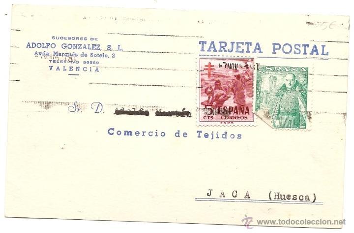 VALENCIA. TARJETA COMERCIAL (Sellos - España - Tarjetas)