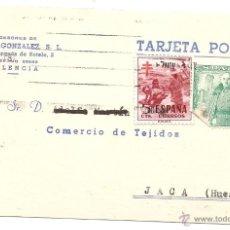 Sellos: VALENCIA. TARJETA COMERCIAL. Lote 42817002