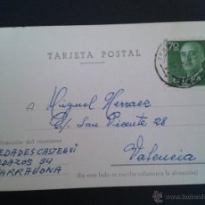 Sellos: TARJETA POSTAL COMERCIAL. NOVEDADES CASTELLVÍ. TARRAGONA.. Lote 43310106