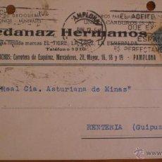 Sellos: TARJETA POSTAL- ARDANAZ HERMANOS -PAMPLONA-AÑO 1933. Lote 43389206