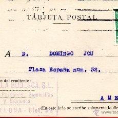 Sellos: . TARJETA POSTAL GASULLA BODEGA BARCELONA . Lote 43701809