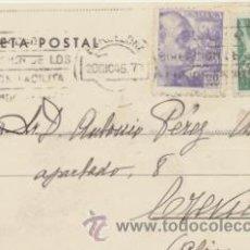 Sellos: TARJETA POSTAL DE BARCELONA A CREVILLENTE DEL 20 DIC. 1945. CON EDIFIL 922, BARCELONA-. Lote 43766407