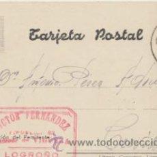 Sellos: TARJETA POSTAL DE LOGROÑO A CREVILLENTE DEL 4 FEBRERO. 1945. CON EDIFIL 964. Lote 43771724