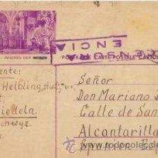 Sellos: TARJETA ENTERO POSTAL SUIZA DE EINSIEDELN A ALCANTARILLA DEL 7 OCT. 1937. CENSURA DE -. Lote 43773991