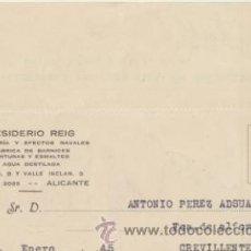 Sellos: TARJETA CON MEMBRETE DE ALICANTE A CREVILLENTE DEL 19 ENE.1945. CON MOVIL 25 CTS. RO-.. Lote 43783280