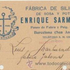 Sellos: TARJETA CON MEMBRETE DE BARCELONA A MONOVAR DEL 4 JULIO 1929. CON EDIFIL 315.. Lote 43783325
