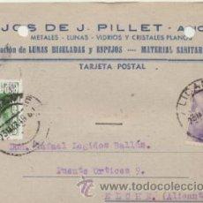 Sellos: TARJETA CON MEMBRETE DE ALICANTE A ELCHE DEL 23 MARZO 1949. CON EDIFIL 922.Y 1021.. Lote 43783364