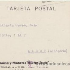 Sellos: TARJETA CON MEMBRETE DE MADRID A ALCOY DEL 13 SEPT 1967.. CON EDIFIL .1153.. Lote 43793187