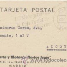 Sellos: TARJETA CON MEMBRETE DE MADRID A ALCOY DEL 22 NOVI. DE 19 61. 1964. CON EDIFIL 1151.. Lote 43793528