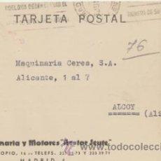 Sellos: TARJETA POSTAL CON MEMBRETE DE MADRID A ALCOY DEL 3 JUNIO 1963. CON EDIFIL 1151.. Lote 43794281