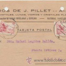 Sellos: TARJETA CON MEMBRETE DE ALICANTE A ELCHE DEL 7 AGOSTO 1941. CON EDIFIL PAREJA 917.. Lote 43802467