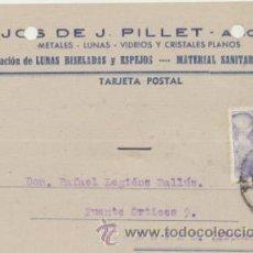 Sellos: TARJETA CON MEMBRETE DE ALICANTE A ELCHE DEL 14 AGOSTO 1945. CON EDIFIL 922.. Lote 43802500
