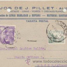 Sellos: TARJETA CON MEMBRETE DE ALICANTE A CREVILLENTE DEL 4 MAYO. 1948.CON EDIFIL 922 Y 918. Lote 43802554