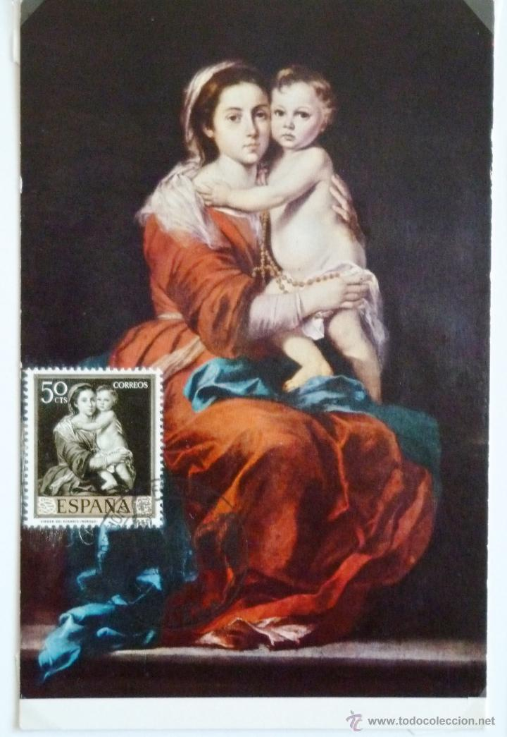 Tarjeta murillo la virgen del rosario matase comprar tarjetas tarjeta murillo la virgen del rosario matasellos malaga 1977 sellos espaa thecheapjerseys Choice Image