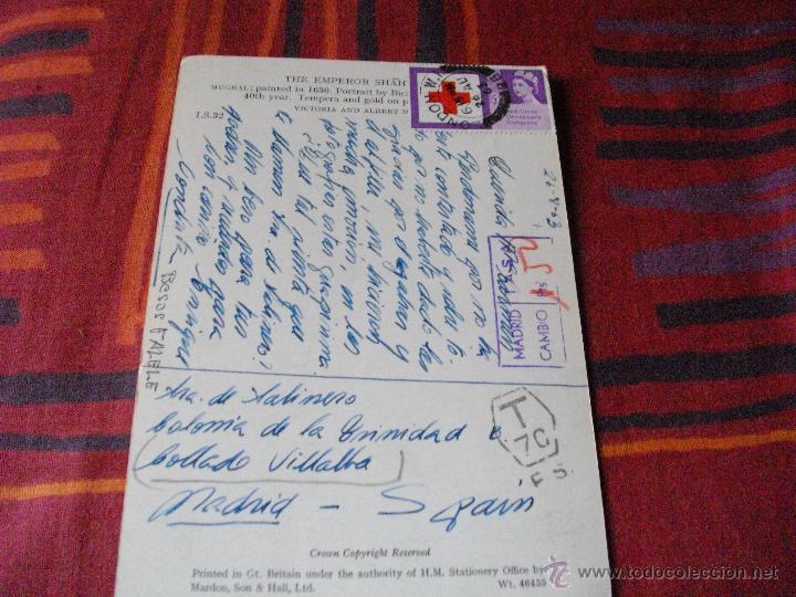 PRECIOSA POSTAL CON BONITO SELLO Y MATASELLO DE 1963 MIRA MAS POSTALES EN MI TIENDA (Sellos - Extranjero - Tarjetas)