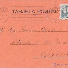 Sellos: TARJETA POSTAL DE SALAMANCA. 1937. 15 CTS. JUNTA DE DEFENSA NACIONAL.. Lote 44369056