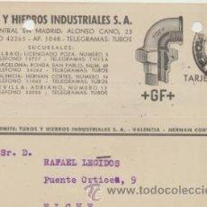 Sellos: TARJETA CON MEMBRETE DE VALENCIA A ELCHE DEL 19- 5-. 1942. CON EDIFIL 922.. Lote 44738090