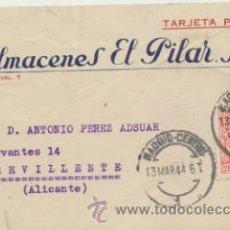 Sellos: TARJETA CON MEMBRETE DE MADRID A CREVILLENTE DEL 13 MAR. 1944. CON EDIFIL 964 Y MO-. Lote 44796249