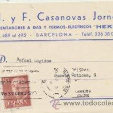 Sellos: CARTA CON MEMBRETE DE BARCELONA A ELCHE DEL ?. CON EDIFIL 1143 Y 1150.. Lote 44796645