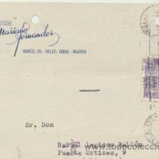 Sellos: TARJETA CON MEMBRETE DE MADRID A ELCHE DEL 6 DIC. 1945. CON EDIFIL 922.. Lote 44796892