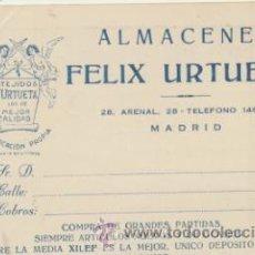 Sellos: TARJETA CON MEMBRETE DE MADRID A MADRID DEL 14 NOV. 1945.. Lote 44796924