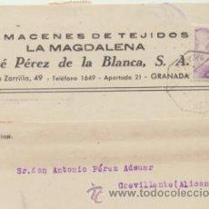 Sellos: TARJETA CON MEMBRETE DE GRANADA A CREVILLENTE DEL 3 NOV. 1943. CON EDIFIL 922 Y AL -. Lote 44797204