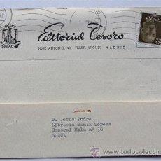 Sellos: TARJETA COMERCIAL / EDITORIAL TESORO / MADRID 1958 / EDICIONES SIGLO XX. Lote 45667607