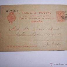 Sellos: TARJETA POSTAL CON SELLO IMPRESO DE 10 CTS. (ESCRITA) FECHADA EL 9-2-1918. Lote 45925735