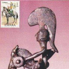 Sellos: ARQUEOLOGIA JINETE IBERO DE LES ALCUSSES MOIXENT (VALENCIA). BONITA Y RARA TARJETA ARTESANAL. MPM.. Lote 46266689