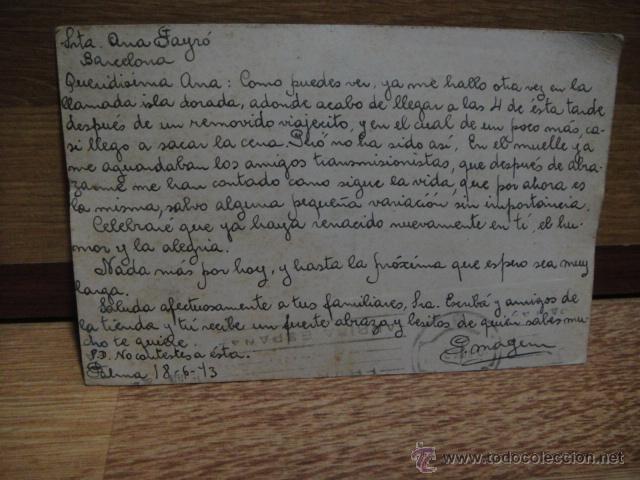 Sellos: tarjeta postal circulada en 1943 - Foto 2 - 48544926
