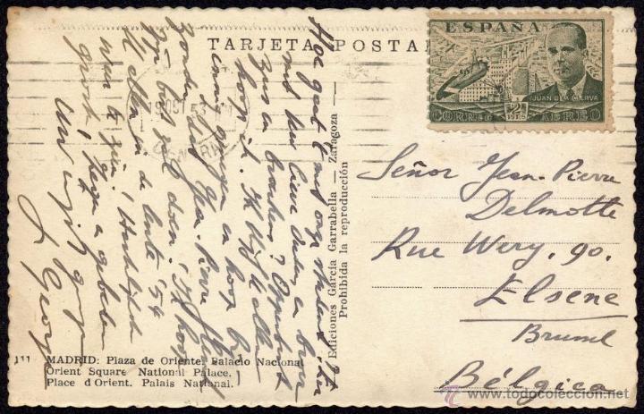 Sellos: TP PLAZA DE ORIENTE 1953 - Foto 2 - 49303045