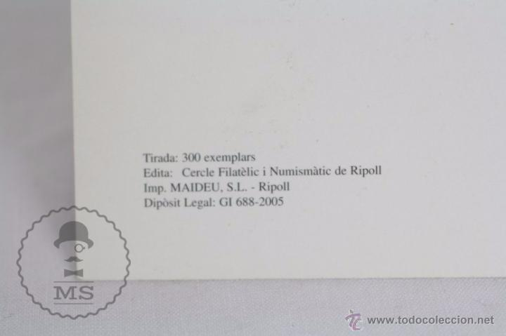 Sellos: Tarjeta / Postal 125 Aniversari Arribada Tren a Ripoll 1980, Girona - Matasellos 2005 - RENFE - Foto 4 - 49764577