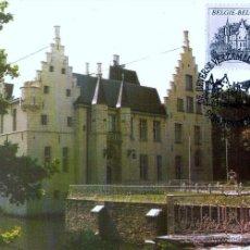 Sellos: BELGICA 1993- YV 2513 [CASTILLO DE BEVEREN] (TARJETA MÁXIMA). Lote 220544720