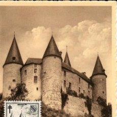 Sellos: BELGICA 1951- YV 0875 [CASTILLO DE VÉVES - CELLES] (TARJETA MÁXIMA). Lote 50028029