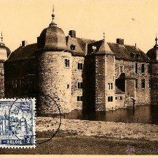 Sellos: BELGICA 1951- YV 0874 [CASTILLO DE LAVAUX-ST ANNE] (TARJETA MÁXIMA). Lote 50028051