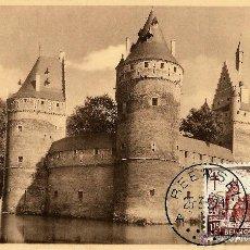 Sellos: BELGICA 1951- YV 0872 [CASTILLO DE BEERSEL] (TARJETA MÁXIMA). Lote 50028091