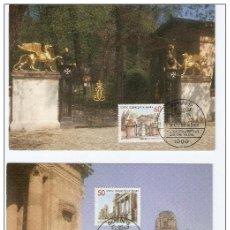 Sellos: ALEMANIA. 2 CARTAS MÁXIMAS. MONUMENTOS.1986. Lote 50373461