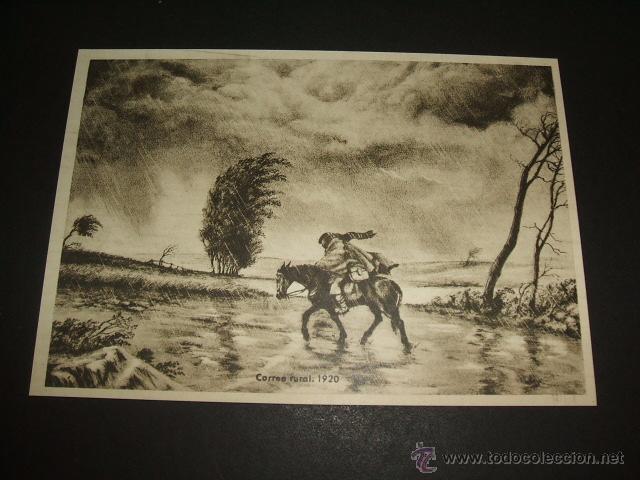 CORREO RURAL 1920 TARJETA (Sellos - España - Tarjetas)