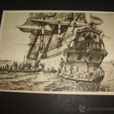 Sellos: GALEON CORREO DE LA CARRERA DE INDIAS SIGLO XVIII TARJETA. Lote 50494351