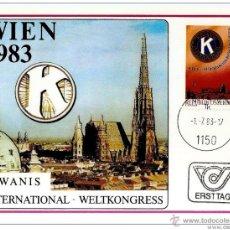 Sellos: AUSTRIA. CARTA MÁXIMA.1983. KIWANIS INTERNATIONAL. Lote 50544383