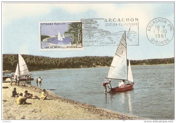 FRANCIA. CARTA MÁXIMA. 1961.BASSIN D´ARCACHON (Briefmarken - Internationale - Maximumkarten)