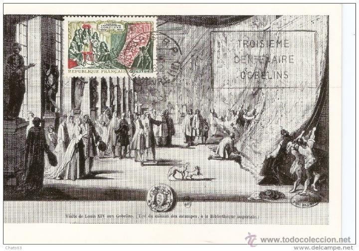 FRANCIA. CARTA MÁXIMA.1962. VISITE DE LOUIS XIV AUS GOBELINS. (Sellos - Extranjero - Tarjetas Máximas)