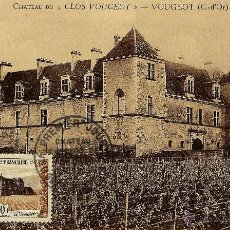Sellos: FRANCIA 1951- YV 0913 [CASTILLO DE CLOS DE VOUGEOT] (TARJETA MÁXIMA). Lote 50706130