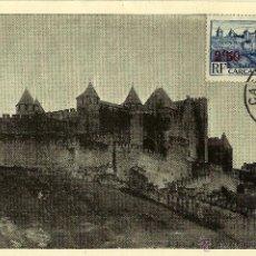Sellos: FRANCIA 1941- YV 0490 [CASTILLO Y MURALLAS DE CARCASONNE] (TARJETA MÁXIMA). Lote 50710726