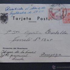 Sellos: TARJETA / CIRCULADA DESDE LERIDA EN 1950 / HIJAS DE LA CARIDAD - HOSPITAL PROVINCIAL / LLEIDA. Lote 50825054