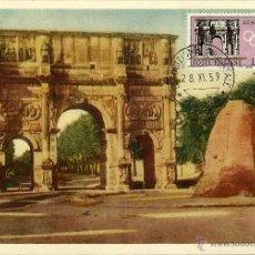 Sellos: ITALIA 1959- YV 0791 [ARCO DE CONSTANTINO EN ROMA] (TARJETA MÁXIMA). Lote 50982210