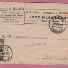 Sellos: TARJETA COMERCIAL - HILATURAS JOSÉ SILES LUQUE, DE PRIEGO DE CÓRDOBA. 23 - 6- 1960 DIRIG. MANRESA. Lote 51041876