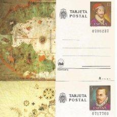 Sellos: ENTERO POSTAL CARTOGRAFIA MAPAS JUAN DE LA COSA MATEO PRUNES GEOGRAFIA. Lote 95552148