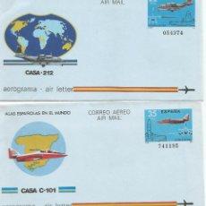 Sellos: AEROGRAMA AVION CASA 212 Y C-101 REACTOR . Lote 51145877